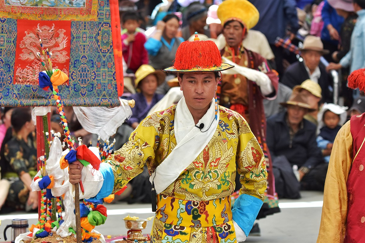 Tibet Opera during Lhasa Shoton Festival