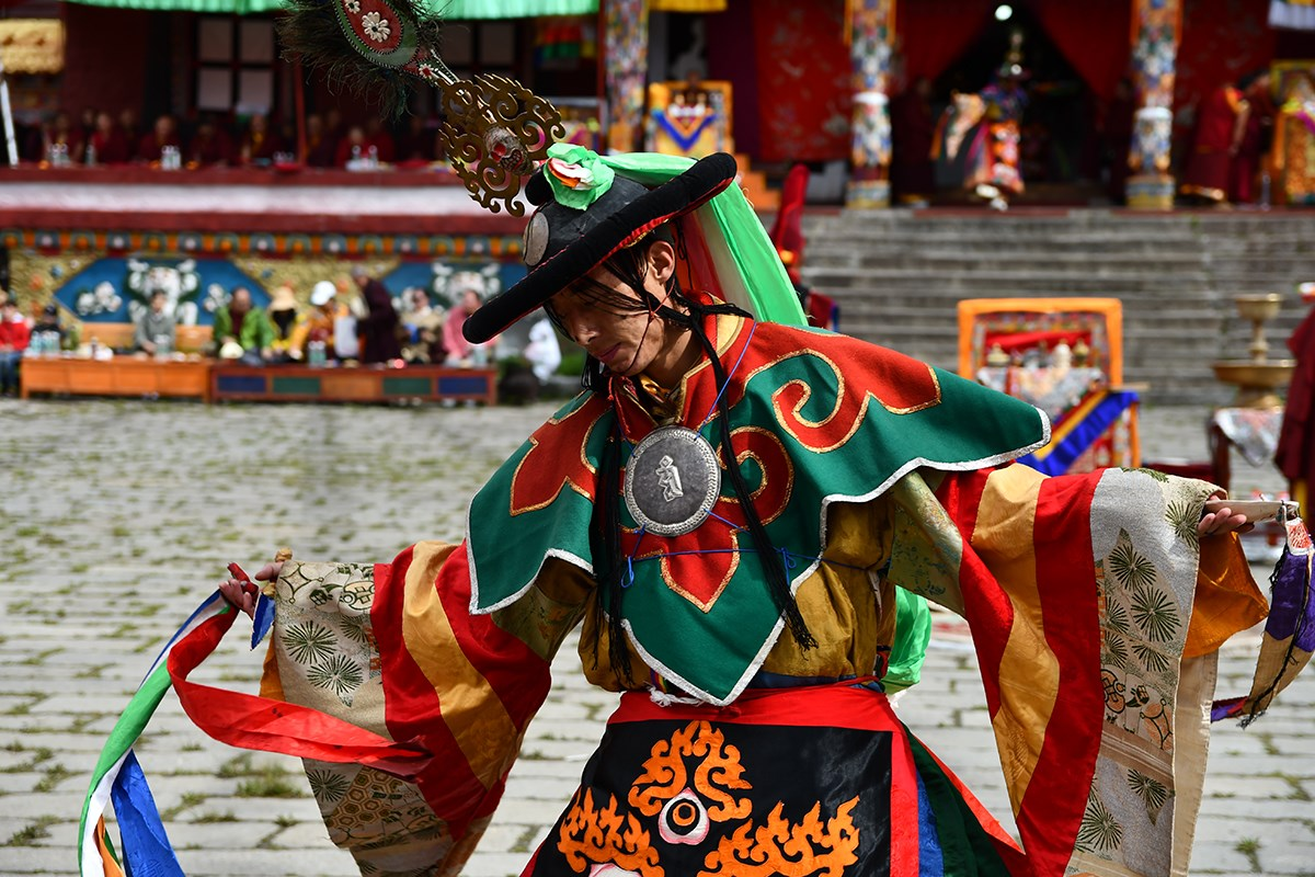 Mask Dance Festival at Tagong Monastery | Photo by Liu Bin