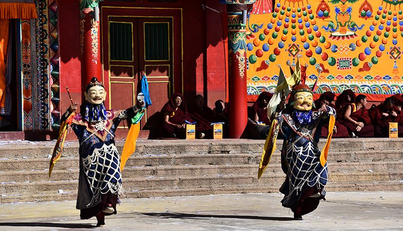 Mask dance (Cham) in Nangshig