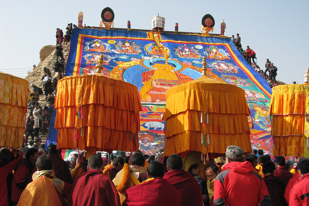 Monlam Festival Losar in Langmusi | Photo by Prof. Hans Först