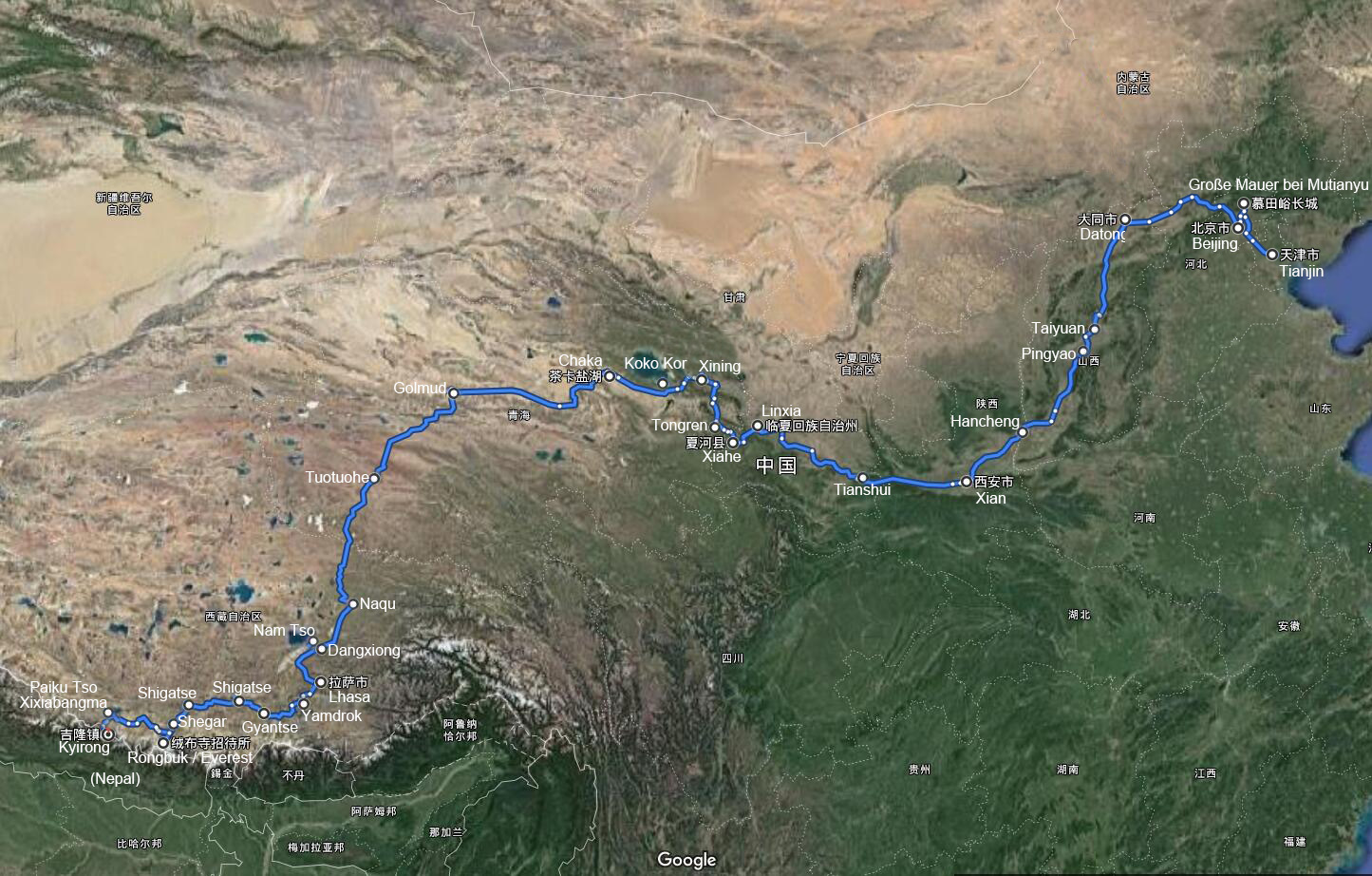 Self Drive Tour from Port City Tianjin to Tibet