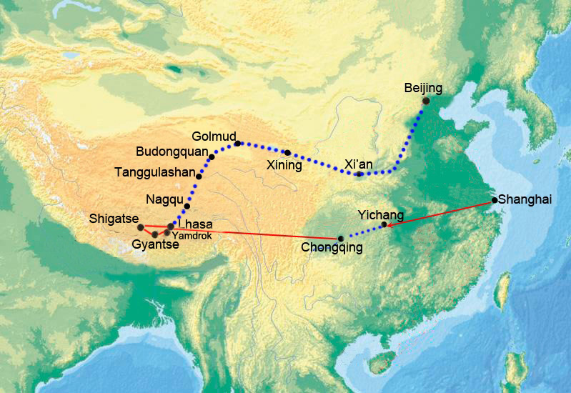 From Yangtze to Tibet
