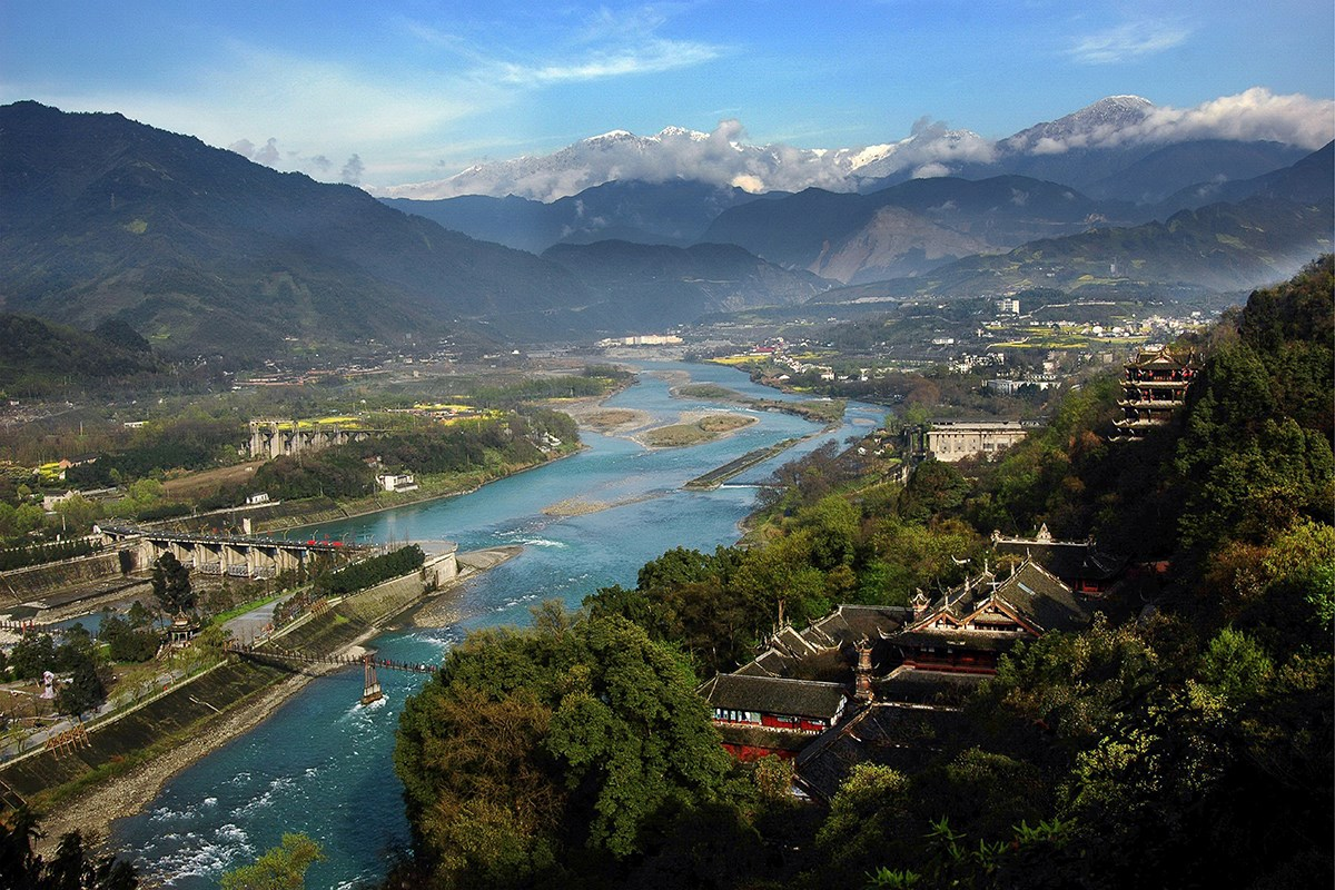 Dujiangyan  Irrigation System | Photo by Dujiangyan Culture and Tourism Administration
