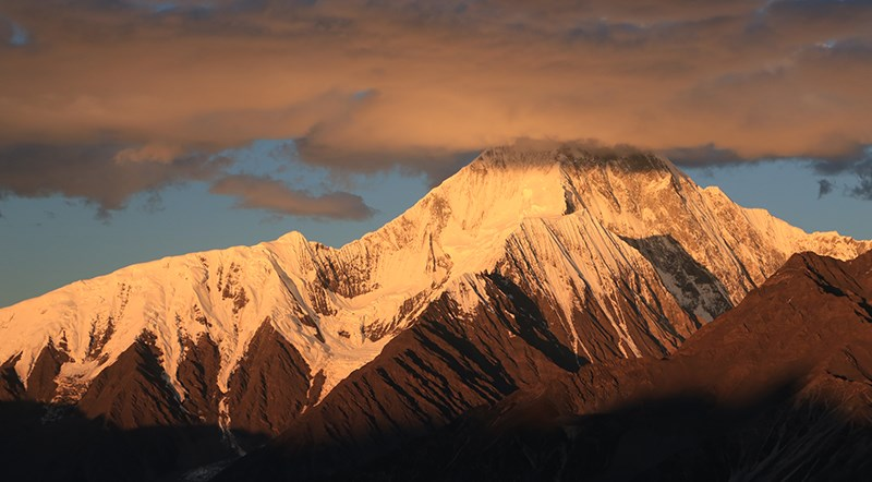 Sunset of Gongga Mountain