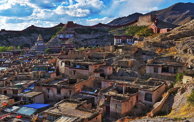 Distant View of Palkhor Monastery in Gyantse