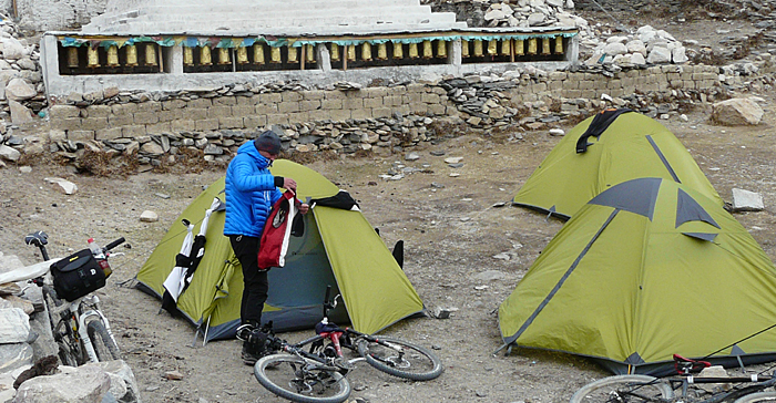 Camping am Rongbuk Kloster